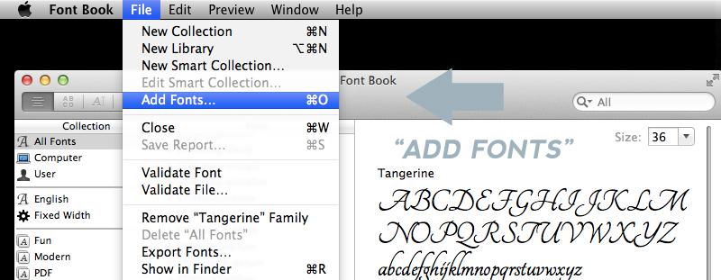 Installing Font Mac