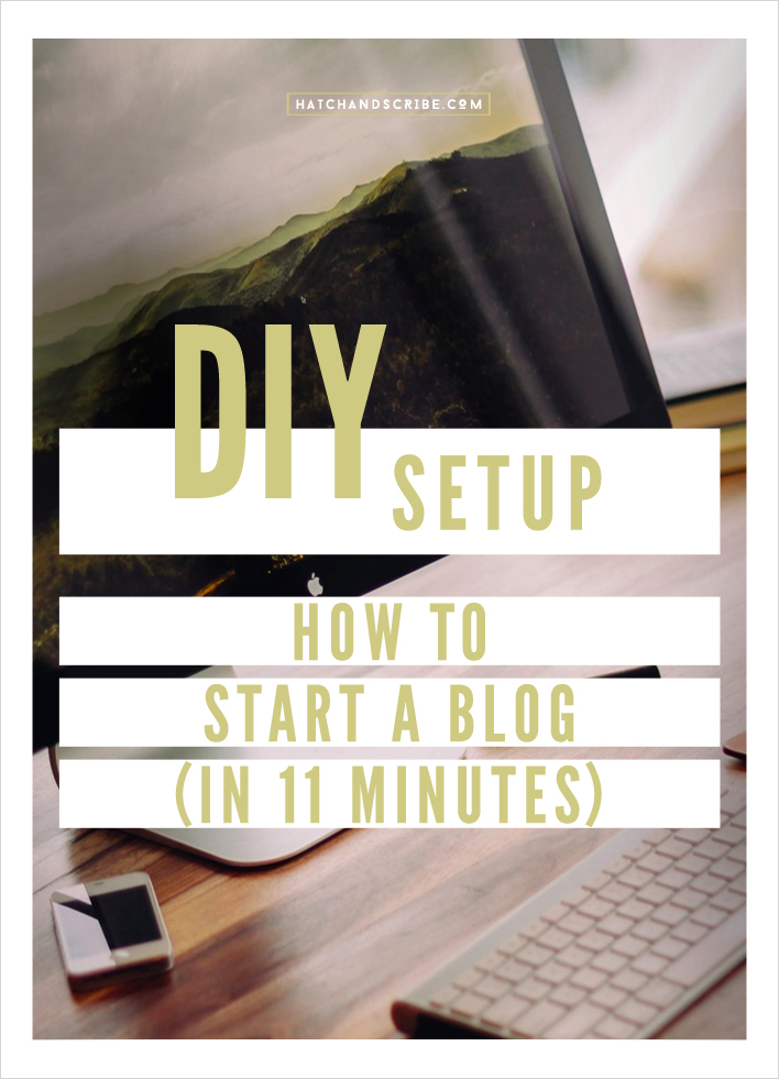 How To Start A Blog In 11 Minutes