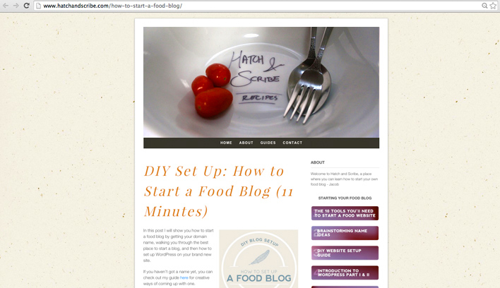 Food Blog Header Designs