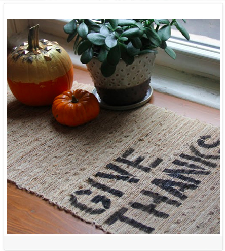 DIY Blog Header Design Idea #5 of 9: Cut out a stencil and spray paint an item that relates to your blog