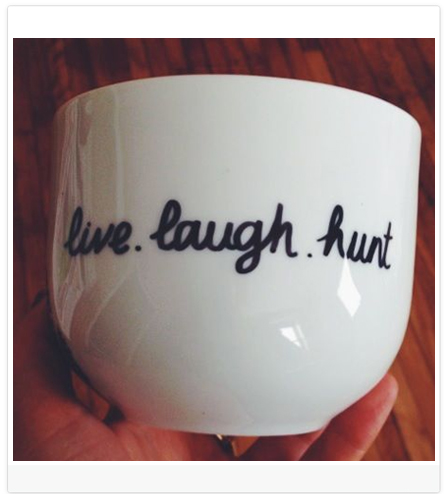 DIY Blog Header Design Idea #1 of 9: Use a Sharpie to write on ceramic