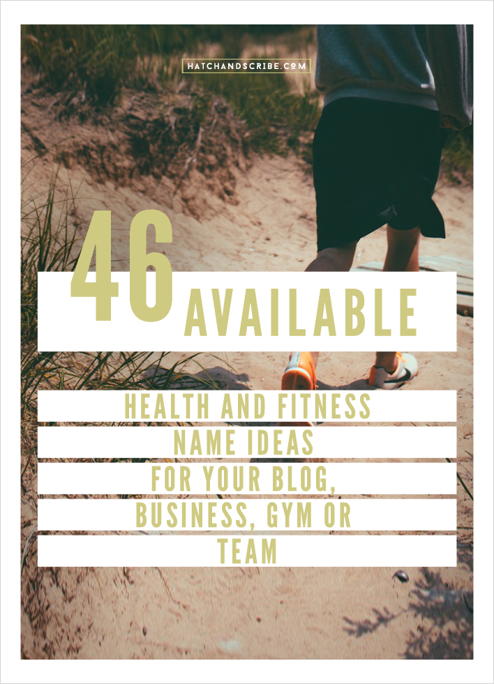 46 Available .com Health and Fitness Name Ideas – For Your Blog ...
